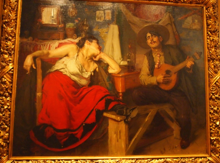 Painting of Fado singers