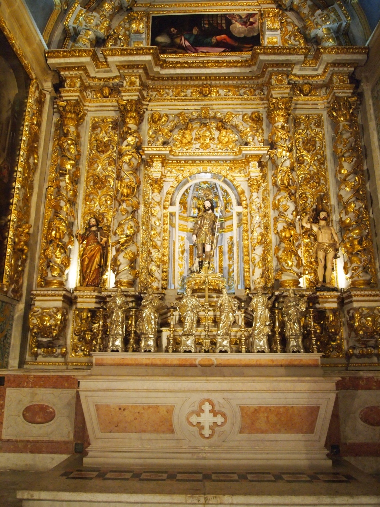 Inside the Igreja de São Roque (Church of Saint Roch) in Lisbon