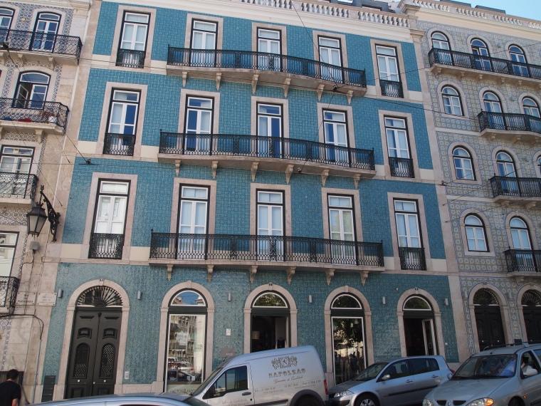 Tiled facades in Bairro Alto