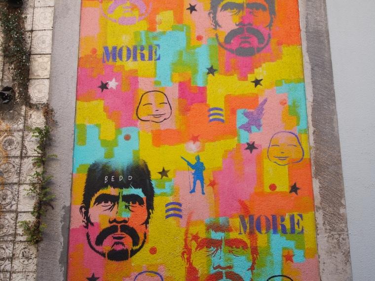 Graffiti-covered walls in Bairro Alto