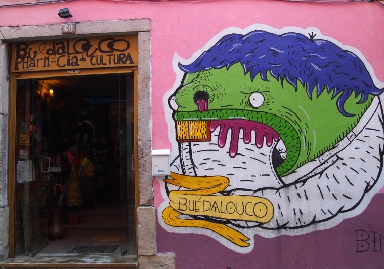 More street art in Bairro Alto