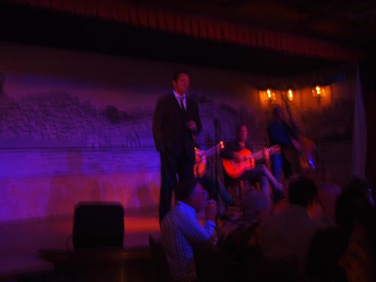 fado singer at Café LUSO