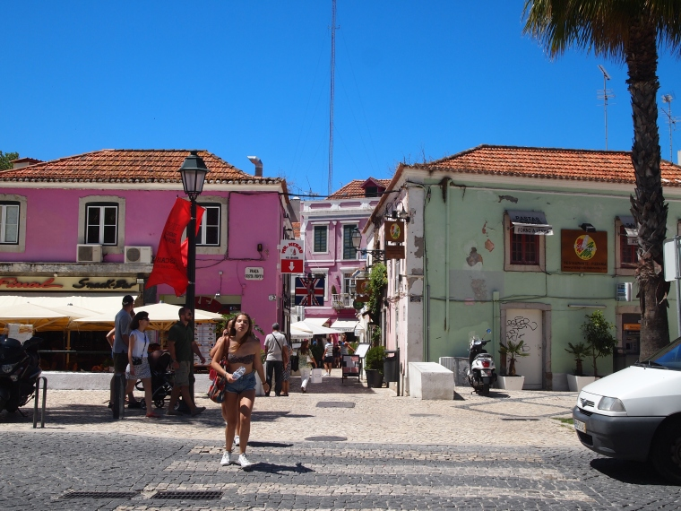 ...and the cheery colorful buildings