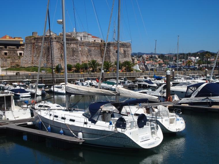 Marina de Cascais with the citadel behind