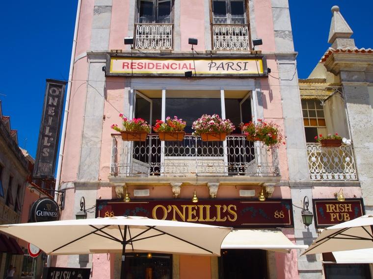 more pink balconies