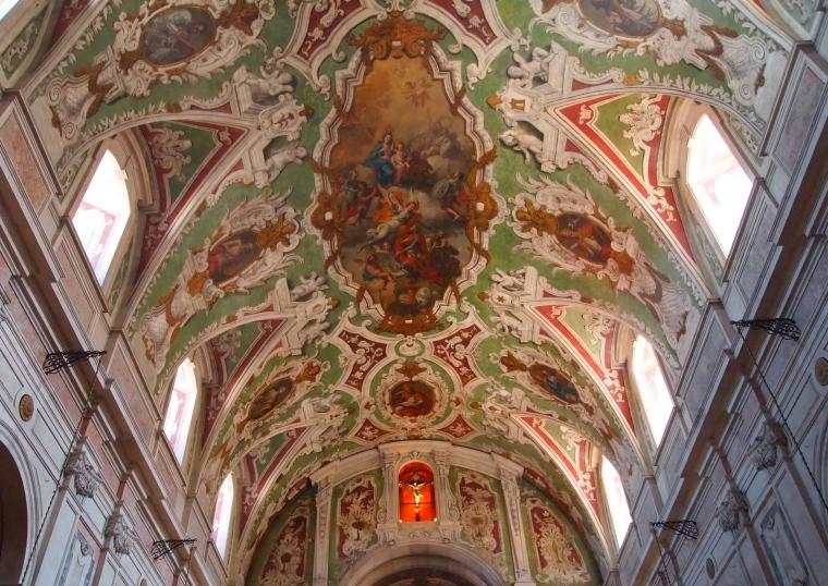the ceiling of Basilica dos Martires