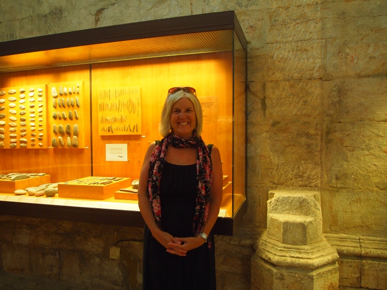 me at the Carmo Archeological Museum