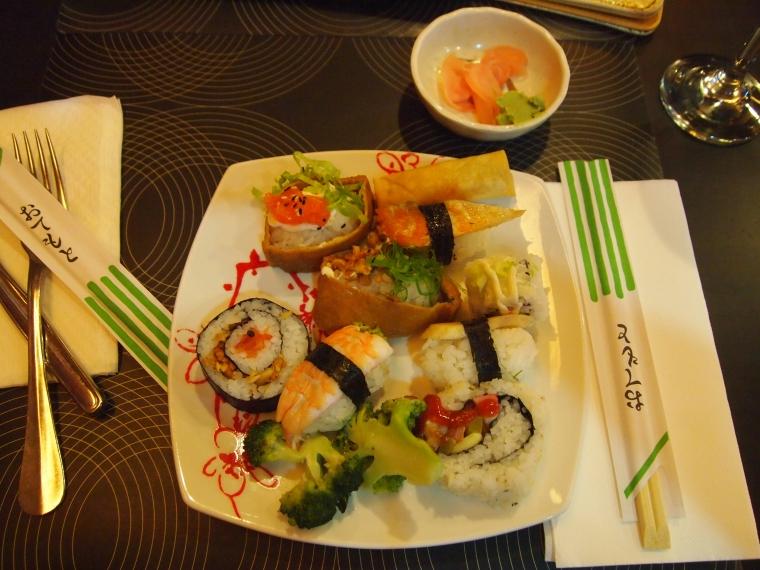 my last dinner in Lisbon: sushi