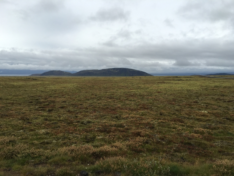 landscape on the way to Geysir