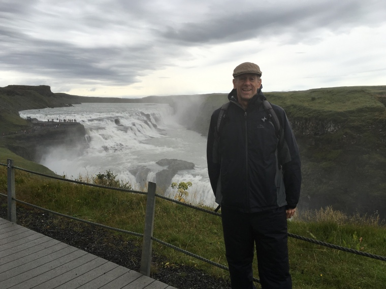 Mike at Gullfoss
