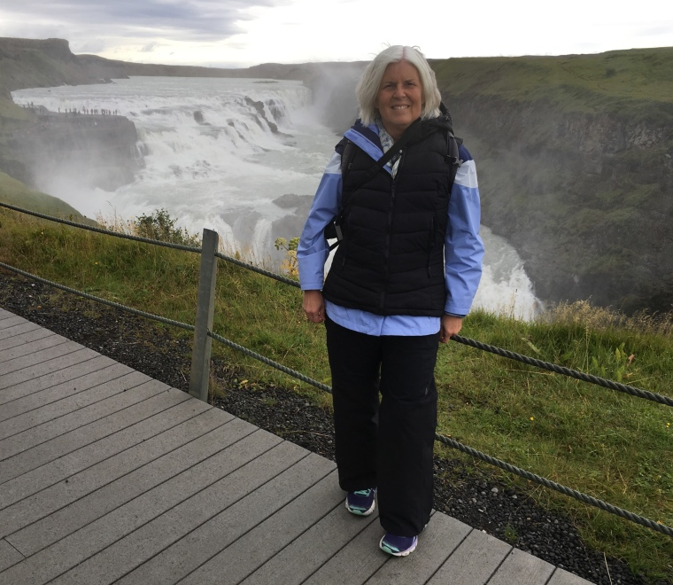 me at Gullfoss