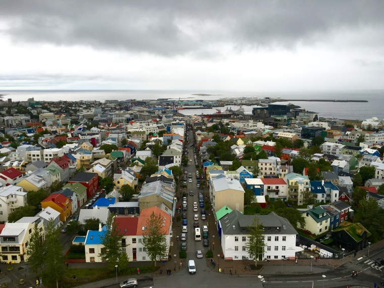 view from the tower of Hallgrímskirkja
