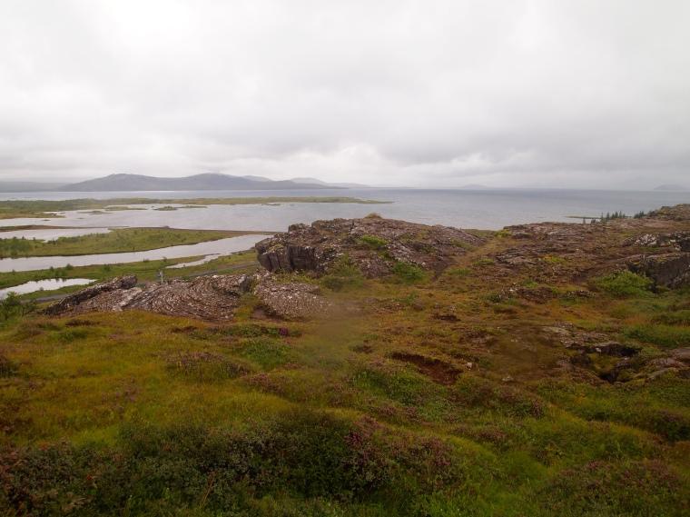 First views over Þingvellir National Park