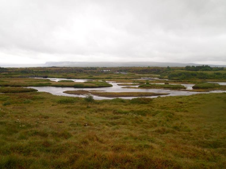 Almannagjá, the plain scarred by fissures