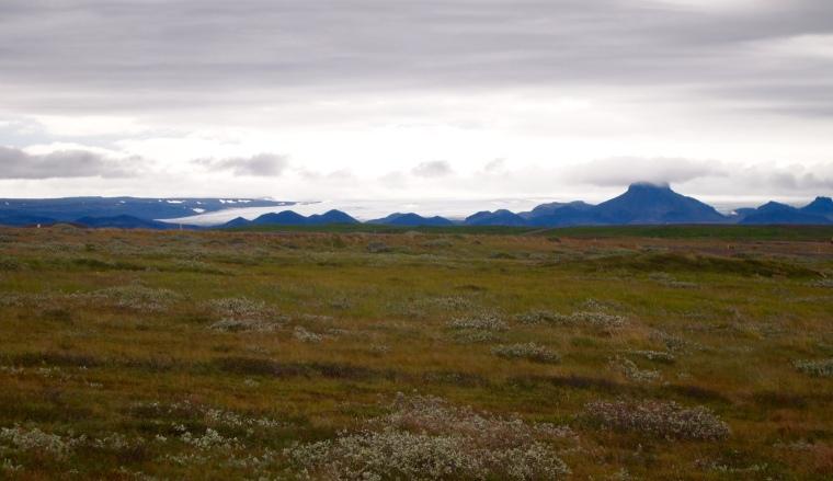 Langjökull in the distance