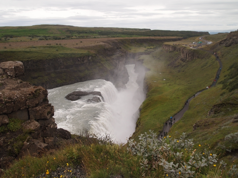 view overlooking Gullfoss