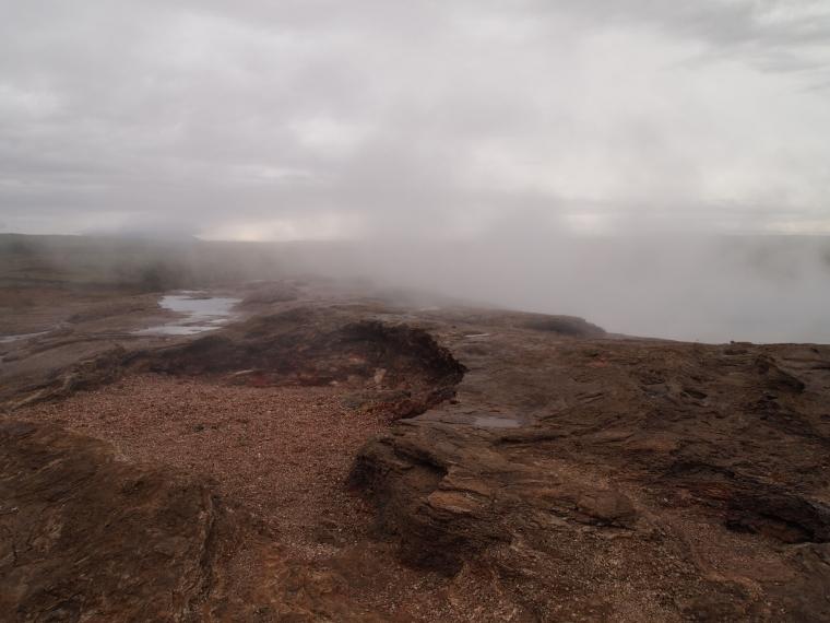 landscape at Geysir