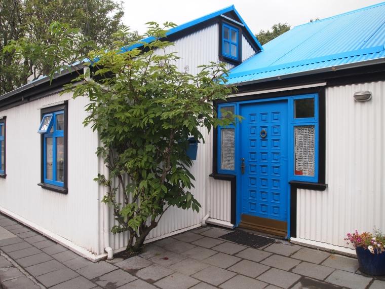 colorful door in Reykjavik