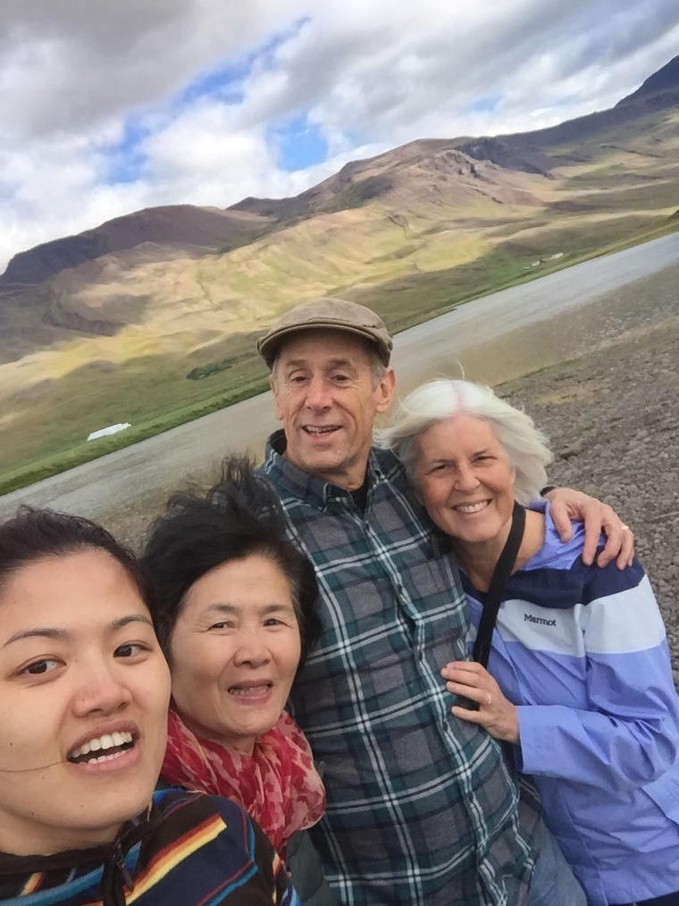 Wang Wang, her mother, Mike and me