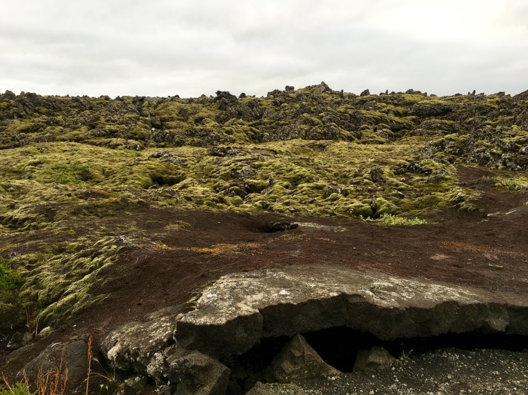 lava formations surrounding the Blue Lagoon