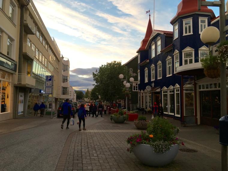 the town of Akureyri