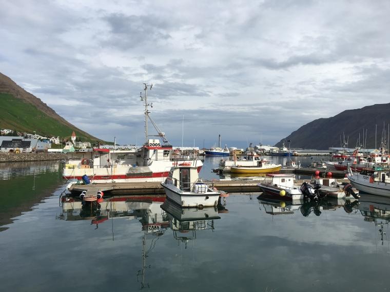 Siglufjörður's harbor