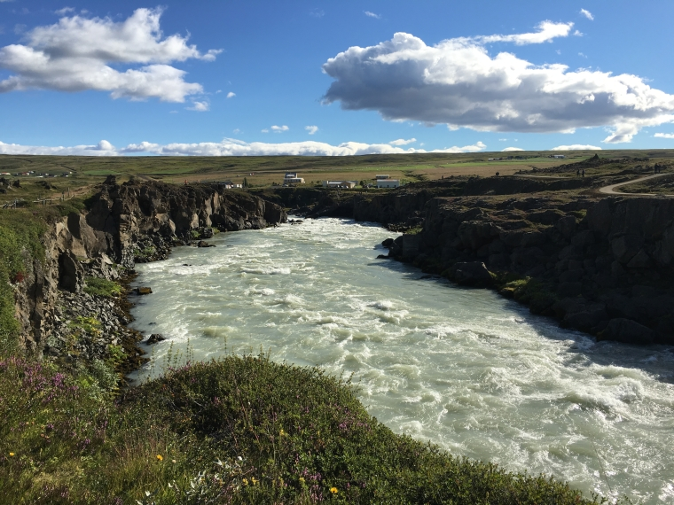 Looking downstream at Goðafoss