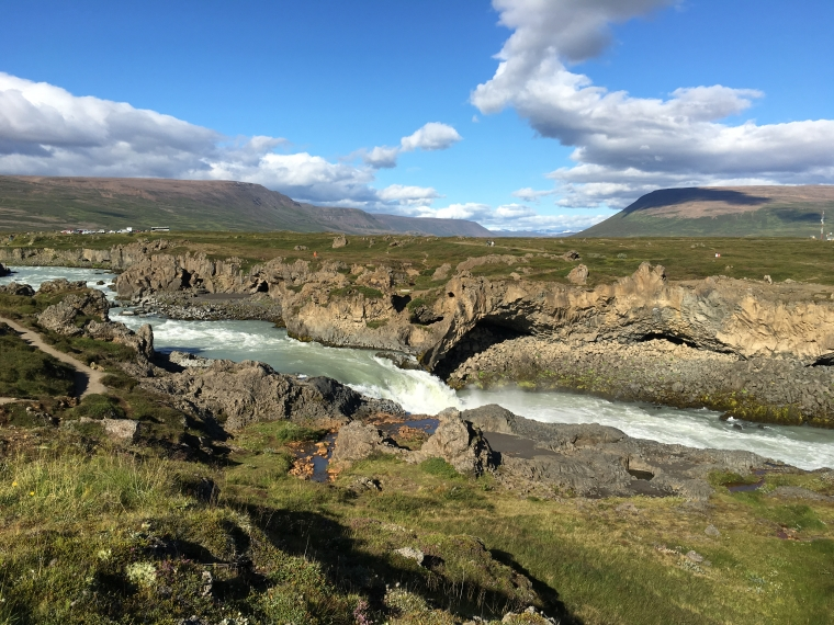 downstream from Goðafoss