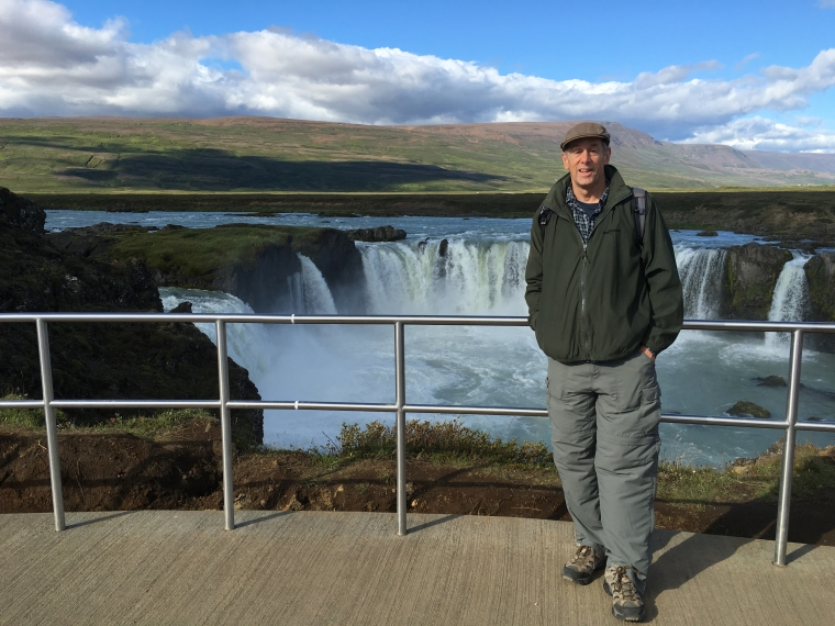 Mike at Goðafoss