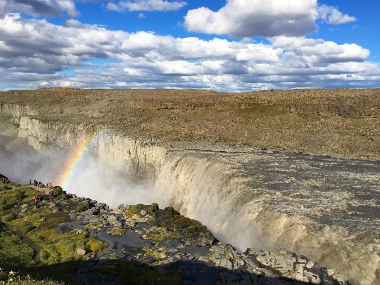 Dettifoss & rainbow