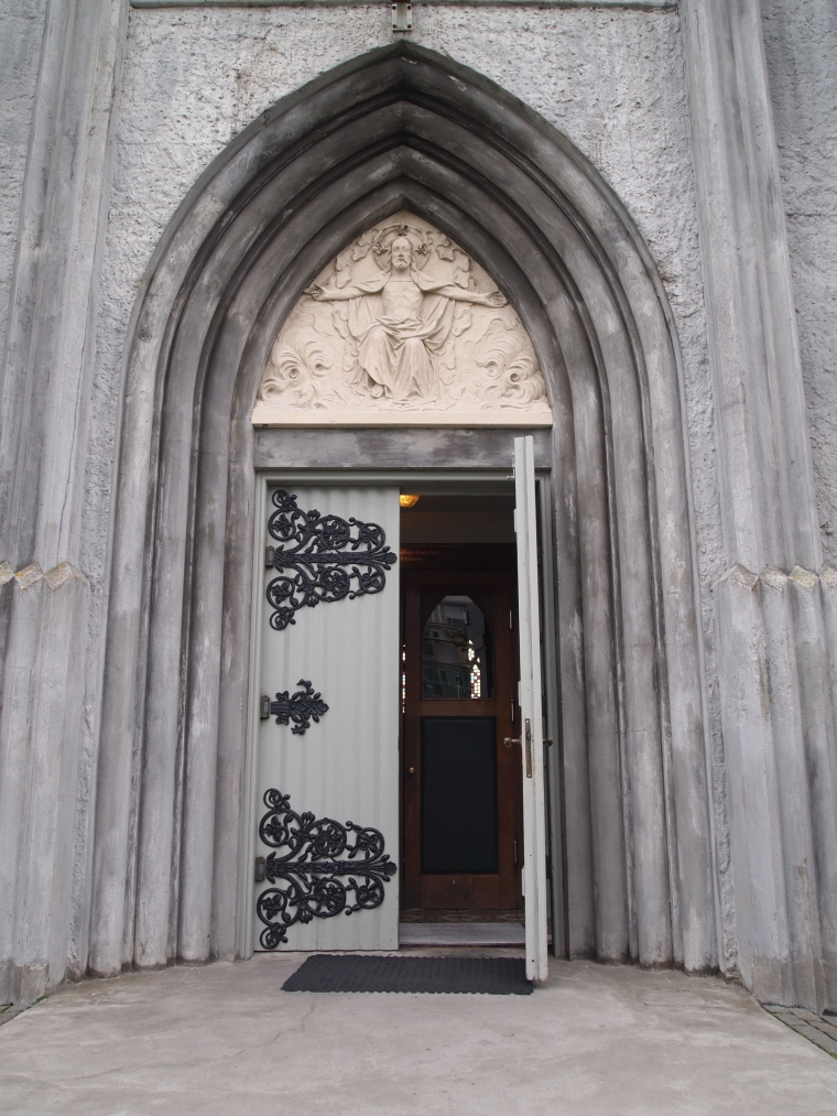 door of The Roman Catholic Cathedral of Christ the King