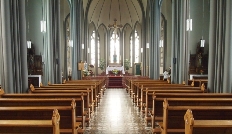 inside The Roman Catholic Cathedral of Christ the King