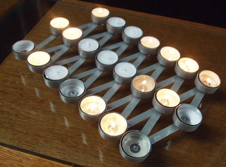 candles in The Roman Catholic Cathedral of Christ the King
