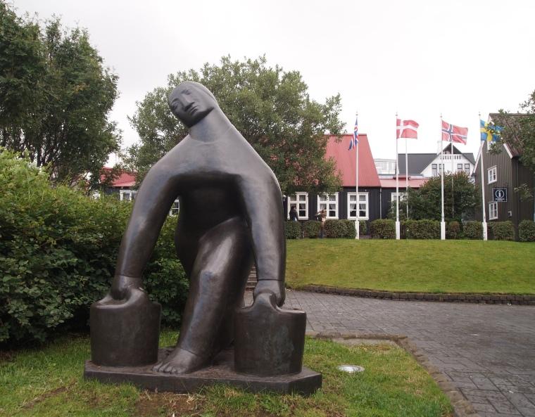 statue in Reykjavík
