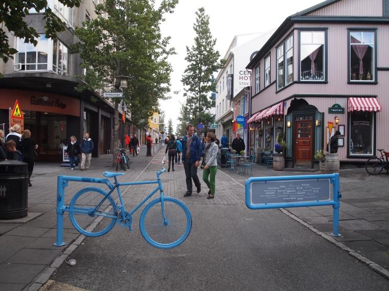 bicycle gate on Laugavegur