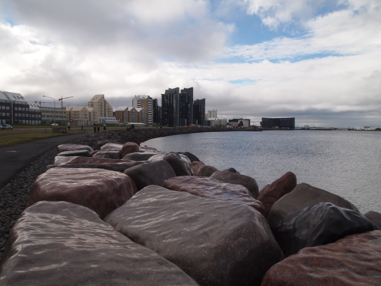 waterfront with Harpa Concert Hall