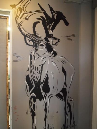 artwork on the walls at Icelandic Tapas