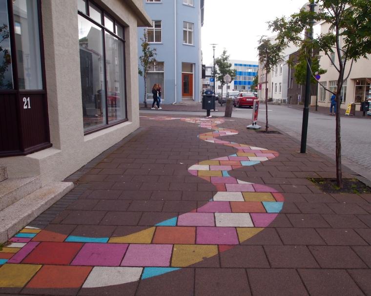 pink brick road