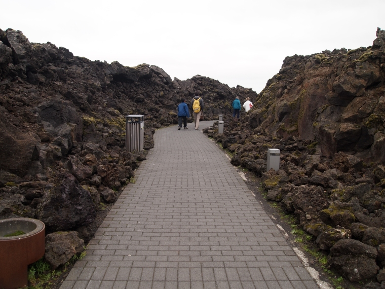 walkway to the Blue Lagoon