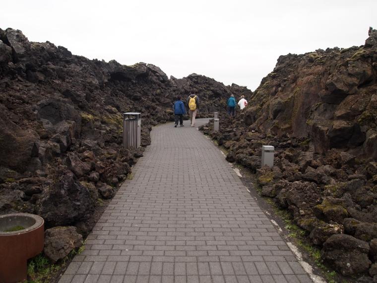 walkway to the Blue Lagoon