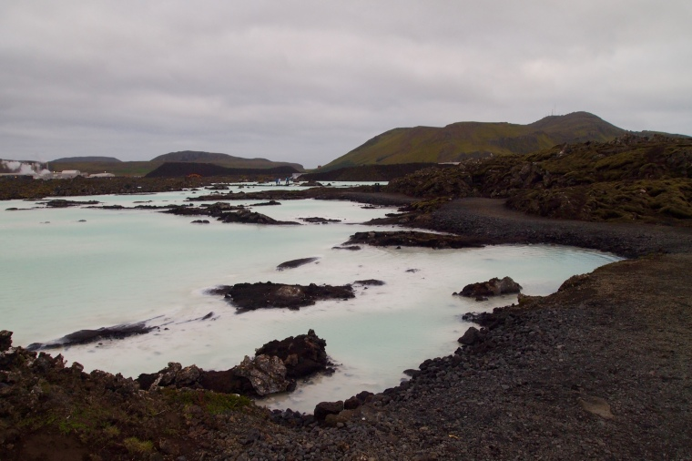 the Blue Lagoon surrounds