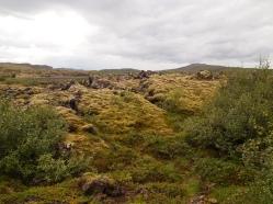 stark lanscape near Grábrók Crater