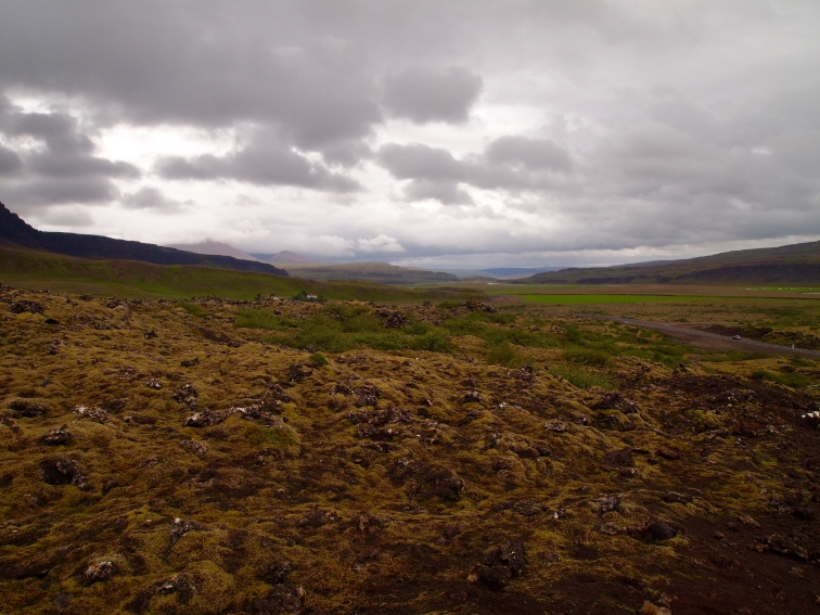 landscape near Grábrók Crater