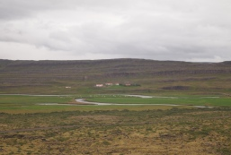 view from atop Grábrók Crater
