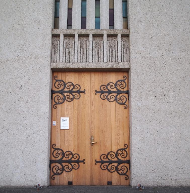 Doors on Akureyrarkirkja