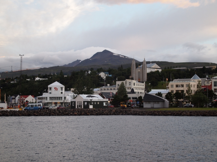 Akureyri from the harbor