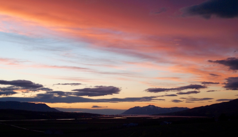 Sunset over Akureyri