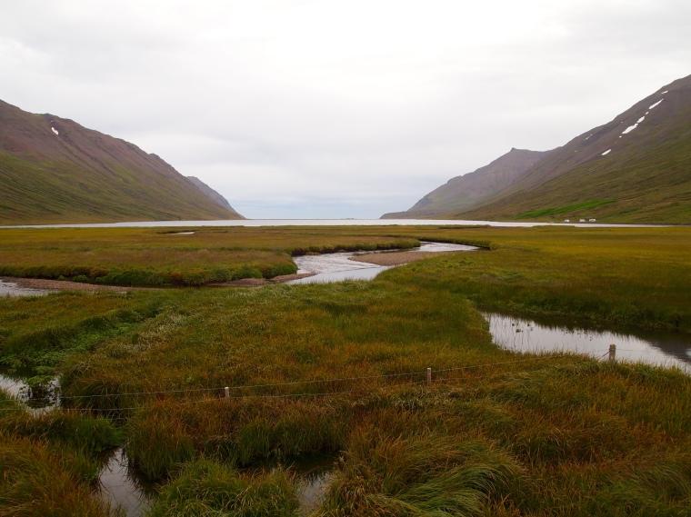view of Héðinsfjörður - a stop between tunnels