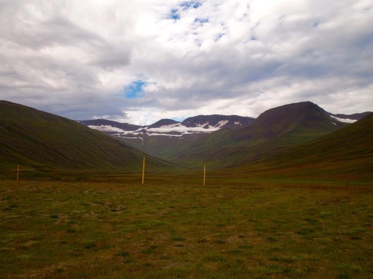 the mountains near Héðinsfjörður