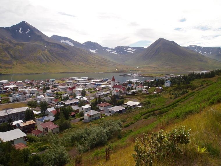 looking down on Siglufjörður